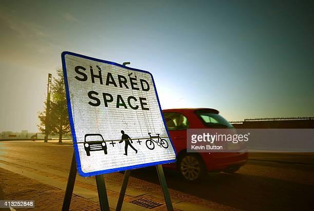 Shared Space Sign - Ashford Kent