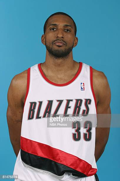 Shareef AbdurRahim of the Portland Trail Blazers poses for a portrati during NBA Media Day on October 4 2004 in Portland Oregon NOTE TO USER User...