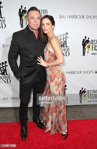 Shareef Malnik and Gabrielle Anwar attend Destination Fashion 2016 to benefit The Buoniconti Fund to Cure Paralysis the fundraising arm of The Miami...