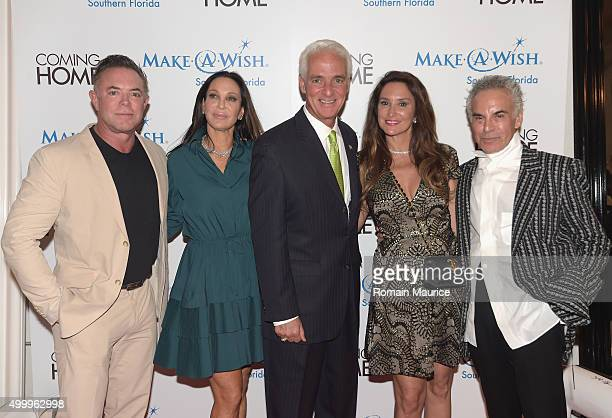Shareef Malnik Lisa Pliner Charlie Crist Carole Crist and Donald Pliner attend Coming Home and MakeAWish Southern Florida Celebrate Miami Art Design...