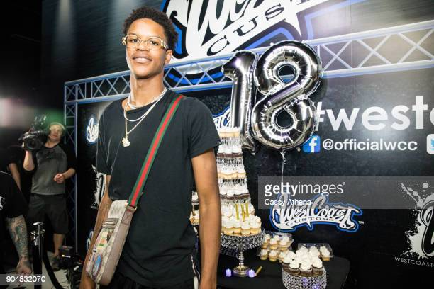 Shareef O'Neal celebrates his 18th birthday party at West Coast Customs on January 13 2018 in Burbank California