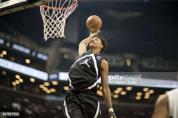 Shareef O'Neal Crossroads School Santa Monica CA in action during the Jordan Brand Classic National Boys Teams AllStar basketball game The Jordan...