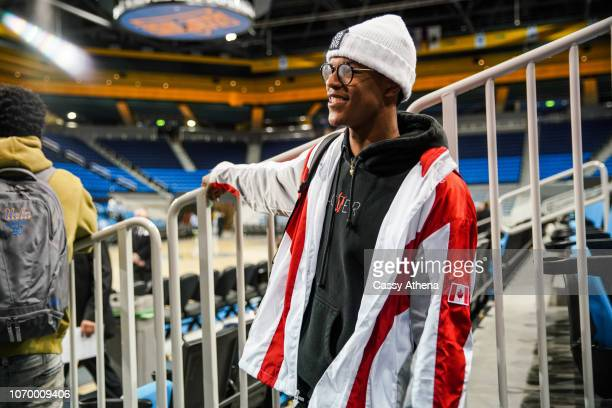 Shareef O'Neal of the UCLA Bruins poses after a game against the UCLA Bruins and the Presbyterian Blue Hose at Pauley Pavilion on November 19 2018 in...