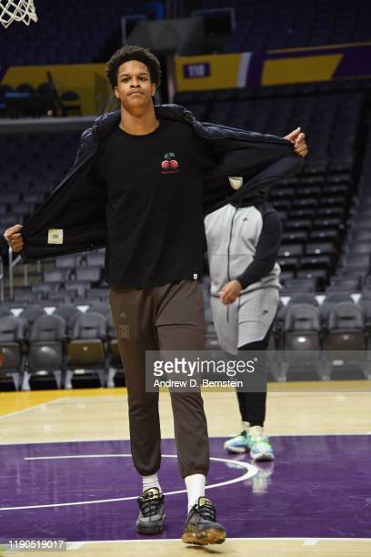 Shareef O'Neal plays on the court after the Los Angeles Lakers game against the LA Clippers on December 25, 2019 at STAPLES Center in Los Angeles,...