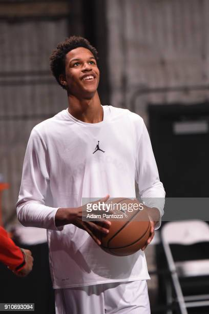 Shareef O'Neal smiles during the 2018 Brand Jordan NBA AllStar Uniforms AllStar Rosters Unveiling show on January 25 2018 at CBS Studios in Studio...