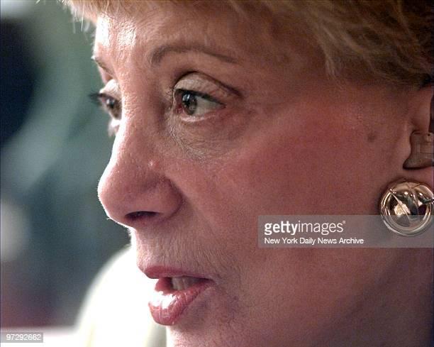 Shareholder Evelyn Yvonne Davis before the CBS stockholders meeting at the Sheraton Hotel.