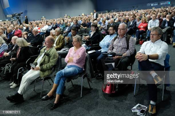 Shareholders attend the annual Daimler AG shareholders meeting on May 22, 2019 in Berlin, Germany. Daimler has struggled with falling sales in its...