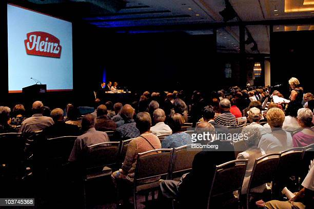Shareholders attend the HJ Heinz Co annual meeting in Pittsburgh Pennsylvania US on Tuesday Aug 31 2010 HJ Heinz Co the world's biggest ketchup maker...