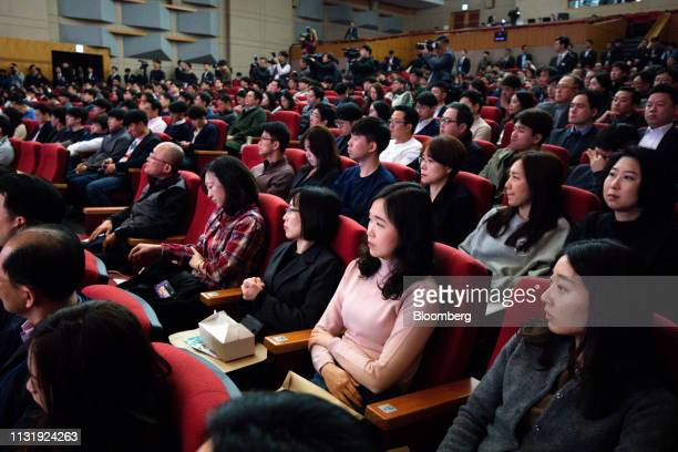Shareholders attend the Hyundai Motor Co annual shareholders meeting at the company's headquarters in Seoul South Korea on Friday March 22 2019...