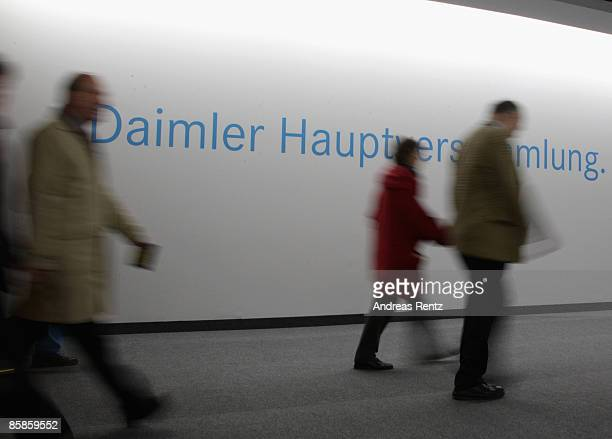 Shareholders of German car maker Daimler AG are seen during the annual general meeting at the ICC Berlin on April 8 2009 in Berlin Germany The Board...