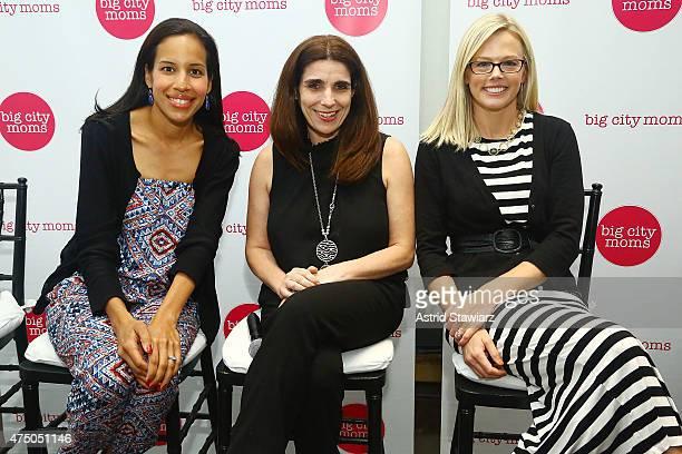 Sharen Medrano Donna Ellenbogen and Kira Ryan attend Big City Moms Biggest Baby Shower Ever NYC 2015 held at the Metropolitan Pavilion on May 28 2015...