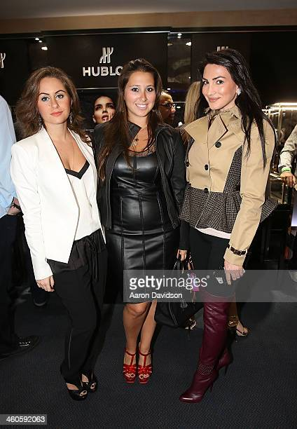 Sharen Pyaterskaya Jessica Palter and Alina Kavall attend Haute Time Russia Hosts Jacob Co and ECJ Holiday Party at Sunny Isles Beach Gallery on...