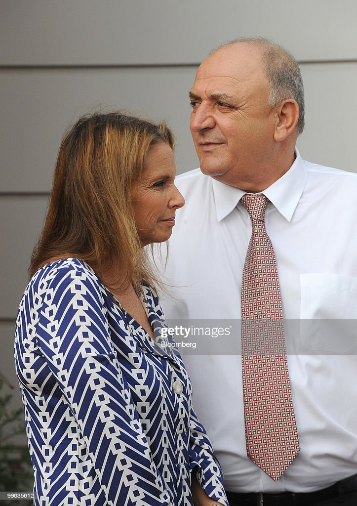 Shari Arison, owner of the Arison Group, left, and Yitzhak Tshuva, controller of Delek Group, arrive for the opening event of a new desalination facility in Hadera, Israel, on Sunday, May 16, 2010. Israeli companies have 'endless' possibilities to sell clean technology to China in areas such as water recycling, desalination and solar power, Environmental Protection Minister Gilad Erdan said. Photographer: Ahikam Seri/Bloomberg via Getty Images