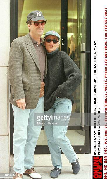 NY Shari Belafonte and husband Sam Behrens about to embark on a shopping triop at the chic Barney's NYThey are in NY for the 1997 Daytime Emmy Awards