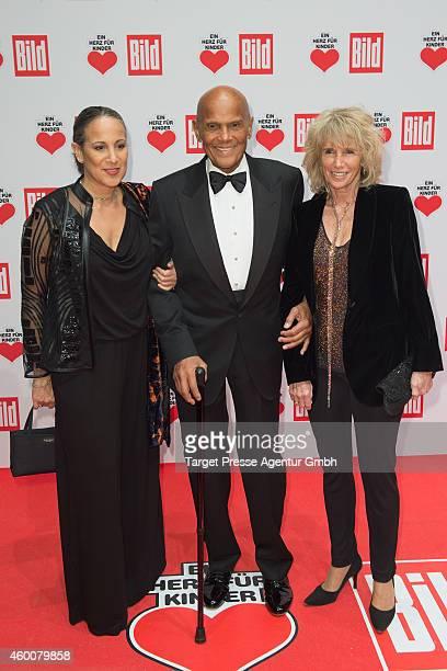 Shari Belafonte Harry Belafonte and his wife Pamela Frank attend the Ein Herz Fuer Kinder Gala 2014 at Tempelhof Airport on December 6 2014 in Berlin...