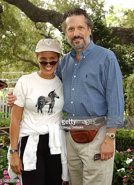 Shari Belafonte Sam Behrens during Wildlife Waystation Presents The 8th Annual Safari Brunch at Private Home in Pasadena California United States