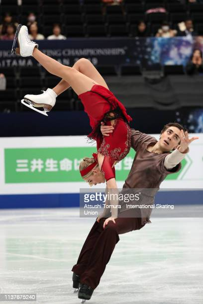 Shari Koch and Christian Nuechtern of Germany compete in the Ice Dance Free Dance on day four of the 2019 ISU World Figure Skating Championships at...