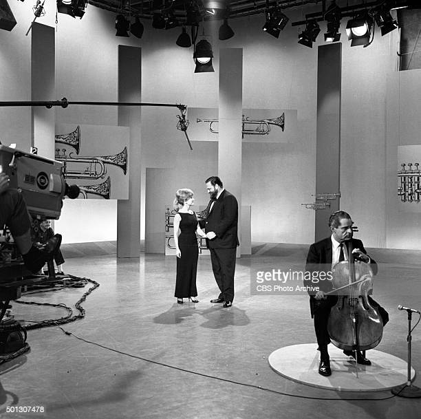 Shari Lewis Al Hirt host of the show and Leonard Rose on the cello on FANFARE Image dated June 16 1965 Original air date June 19 1965