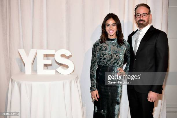 Shari Loeffler and Nicholas Loeffler attend the 2017 Yes Gala at Brooklyn Museum on October 19 2017 in New York City