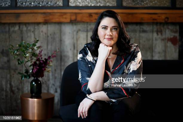 Shari Sebbens poses at a media call ahead of the 25th Anniversary of Screen Australia's Indigenous Department at Carriageworks on August 30 2018 in...