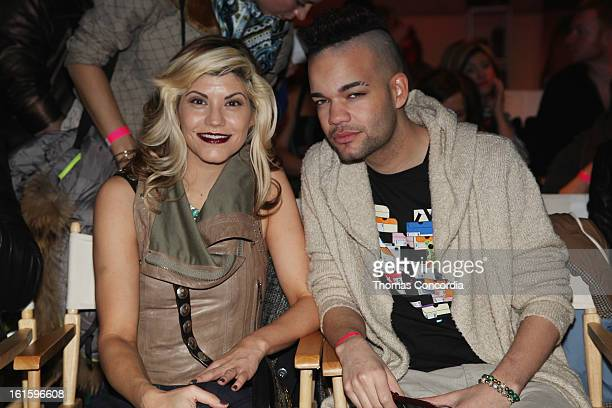 Sharie Manon and designer Jason Christopher Peters attend the Tumbler And Tipsy By Michael Kuluva Fashion Show At CONAIR STYLE360 at STYLE360...