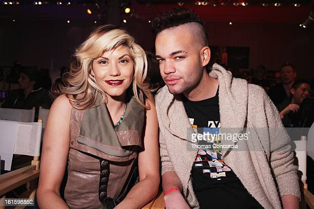 Sharie Manon and designer Jason Christopher Peters attends the Tumbler And Tipsy By Michael Kuluva Fashion Show At CONAIR STYLE360 at STYLE360...