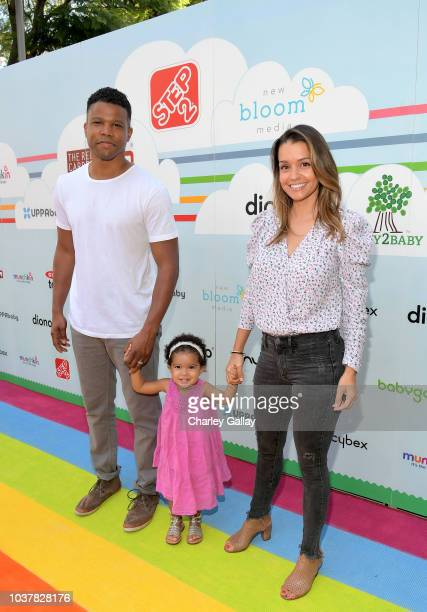 Sharif Atkins and Bethany Lynn Hotchkiss attend Step2 Presents 7th Annual Celebrity Red CARpet event by New Bloom Media Benefitting Baby2Baby at Sony...