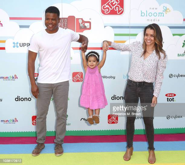 Sharif Atkins and Bethany Lynn Hotchkiss attend Step2 Presents 7th Annual Celebrity Red CARpet Event by New Bloom Media Benefiting Baby 2 Baby at...
