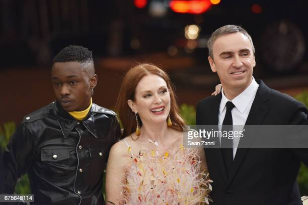 Shariff Earp Julianne Moore and Raf Simons arrive at 'Rei Kawakubo/Comme des Garcons Art Of The InBetween' Costume Institute Gala at The Metropolitan...