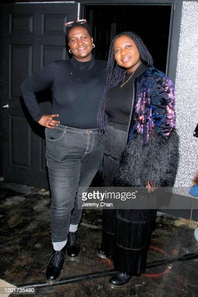 """Shariffa Ali and Yetunde Dada of """"Atomu"""" attend the New Frontier Press Preview during the 2020 Sundance Film Festival at New Frontier Central on..."""