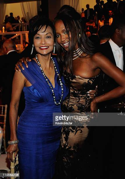 Sharika Caine and model Naomi Campbell during the 10th Annual White Tie and Tiara Ball to Benefit the Elton John Aids Foundation in association with...