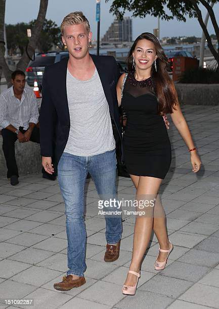 Sharina Ortiz and her boyfriend are seen at AmericanAirlines Arena on August 31 2012 in Miami Florida
