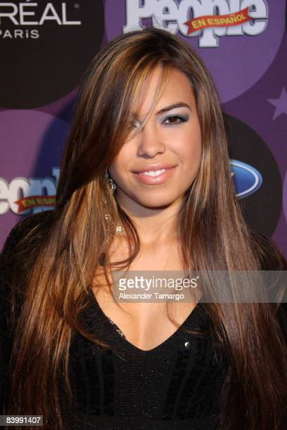Sharina Ortiz arrives at People En Espanol Celebrates The 2008 Stars of the Year Issue event at Grass Lounge on December 10 2008 in Miami