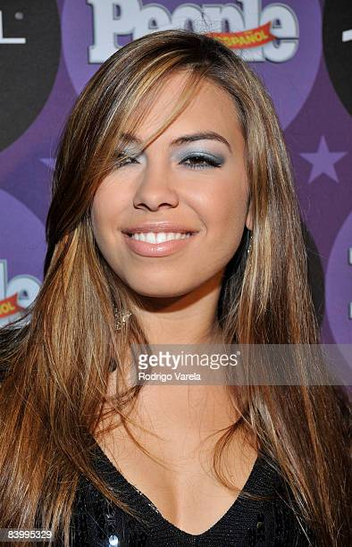 Sharina Ortiz attends People En Espanol Celebrating The 2008 Stars of the Year Issue at Grass Lounge on December 10 2008 in Miami Florida