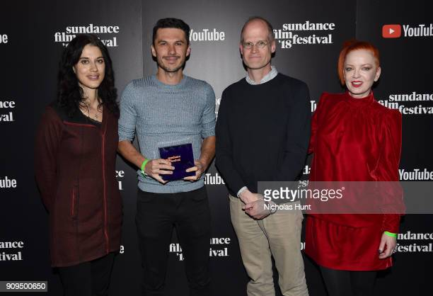 Sharine Davis Goran Stolevski Chris Ware and Shirley Manson attend the Shorts Program Awards and Party presented by YouTube during the 2018 Sundance...