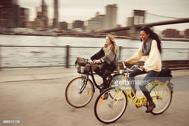 in einer Fahrradtour mein Freund in NYC