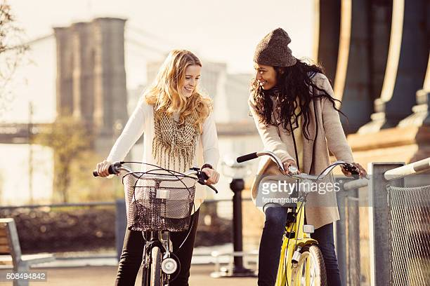 Sharing a Bicycle ride my friend in NYC