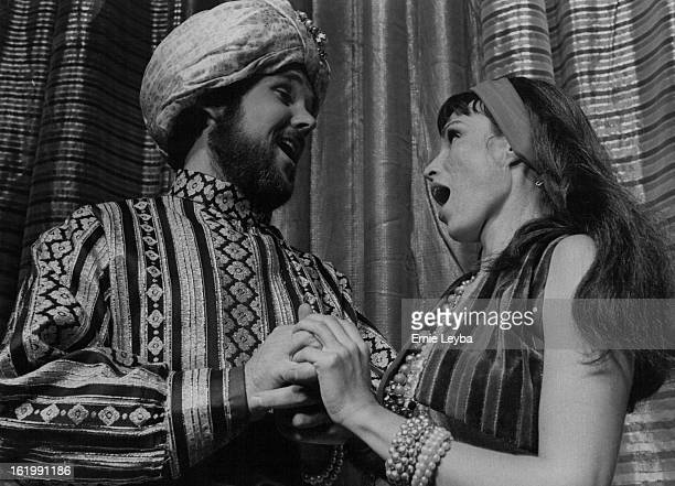 SEP 21 1972 OCT 1 1972 OCT 13 1972 THESE KISMIT PRINCIPALS ARE NO STRANGERS IN PARADISE Sharing a duet from the familiar song are Frank Bauer left as...