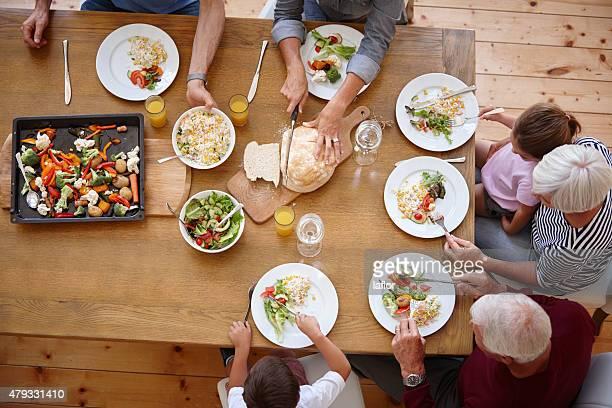 Compartir una comida fmaily