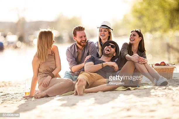 Sharing a funny jokes