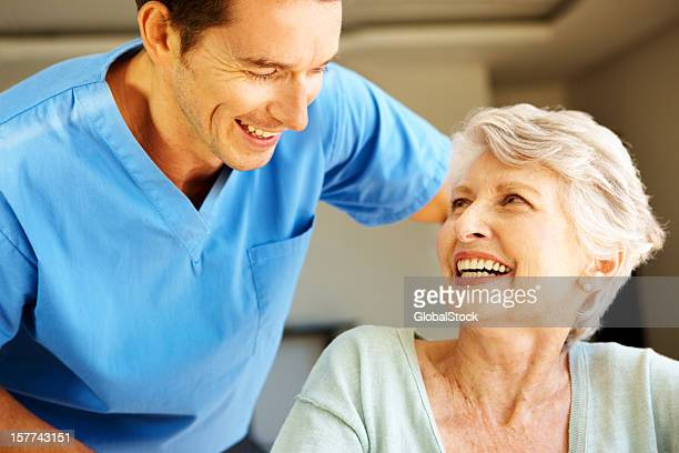 Sharing a laugh to ease her anxiety - Senior Healthcare