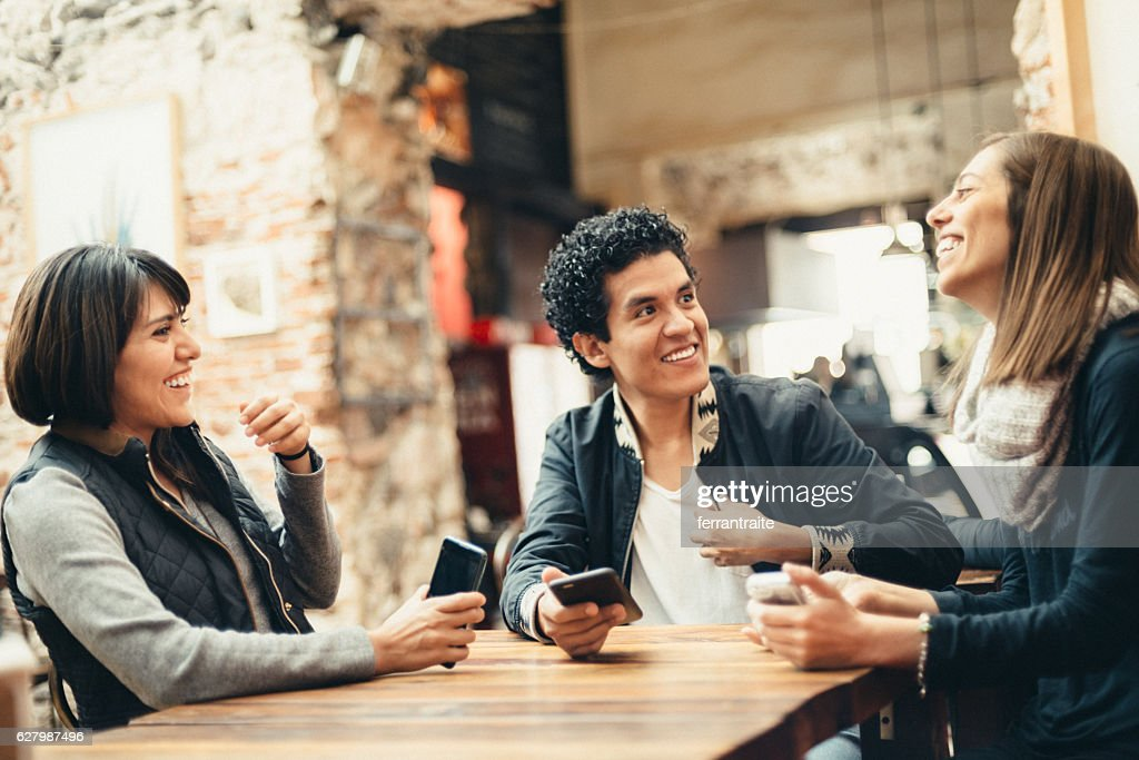 Sharing a Laugh with my Friends : Stock Photo