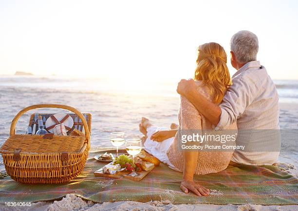 Sharing a romantic picnic together