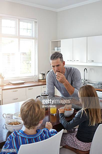 Sharing breakfast as a family