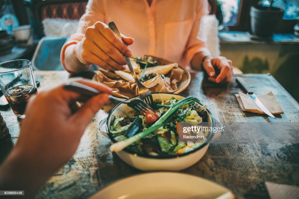 Sharing food : Stock Photo