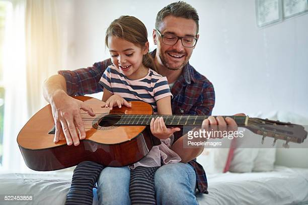 Sharing his passion with his daughter