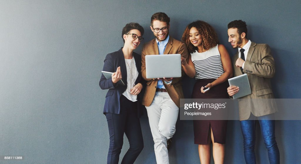 Sharing is easier when you're connected : Stock Photo