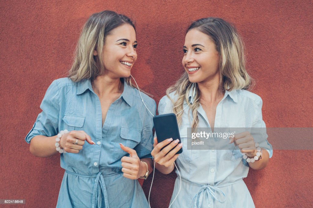 Sharing the music : Stock Photo