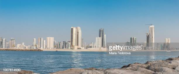 sharjah cityscape - emirate of sharjah stock pictures, royalty-free photos & images