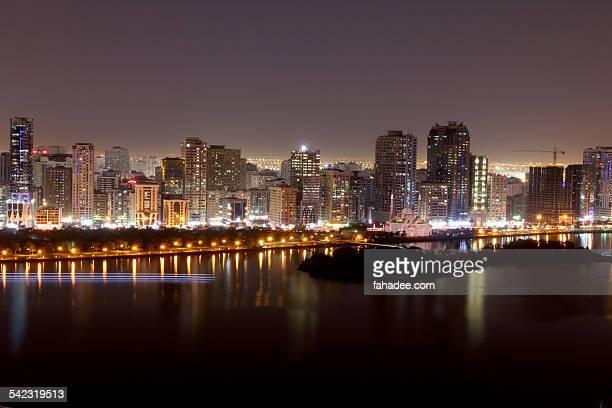 sharjah lights - ras al khaimah stock pictures, royalty-free photos & images